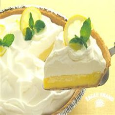 Lemon Cream Pie from Eagle Brand®. All time favorite pie. My birthday pie. (And I am old!)