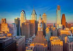 Down town skyscrapers of Philadelphia