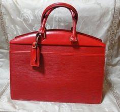 Vintage Louis Vuitton Handbags | ... Vintage Louis Vuitton epi red bag, Riviera. For mod style business bag