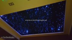 Lighting showroom projects carried out using sets of E-optic technology. The lighting in the living room of a decorative is increasingly common form to create something modern, distinctive element of the others. Star of the sky with different colors and shapes of stars, is very reminiscent of the lighting system of real stars in the sky from which you can create different phases. The lighting in the living room gives unlimited possibilities for a variety of projects.  www.e-technologia.pl
