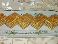 Rozi Erdélyi konyhája: Pergelt cukros,diós süti Cake Cookies, Deserts, Cooking Recipes, Bread, Cakes, Dios, Cute Baking, Kuchen, Cake Makers