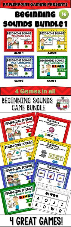 I've bundled the first 4 games of my Beginning Sounds games together! Each game reinforces the beginnings sounds in various pictures. Each game has 26 questions with type-in scoreboards where applicable. The Bingo game comes with 30+ bingo cards, call sheets, printable chips, and call cards. Great for a guided math center or rainy day activity. Great for individual practice on the iPad! Extra licenses are $4.