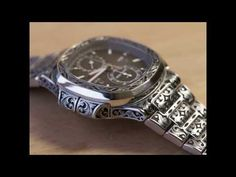 YouTube Watch Engraving, Engraving Art, Custom Engraving, Cool Watches, Rolex Watches, Unique Watches, Expensive Watches, Fitness Gifts, Patek Philippe