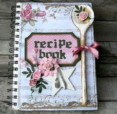 Adorable mini album- recipe book :) Too cute by polly Mini Albums, Mini Album Scrap, Mini Scrapbook Albums, Scrapbook Cards, Scrapbook Recipe Book, Altered Composition Books, Composition Notebooks, Handmade Books, Handmade Journals