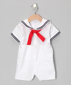 Look what I found on #zulily! White Bobby Romper - Infant by Petit Ami #zulilyfinds