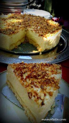 Τούρτα Λεμόνι! | Greek Sweets, Greek Desserts, Party Desserts, Summer Desserts, Lemon Recipes, Sweets Recipes, Cake Recipes, Food Network Recipes, Food Processor Recipes