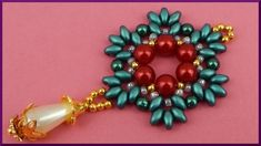DIY | Perlen Ketten Anhänger | Beaded pendant with twin beads | Beadwork...