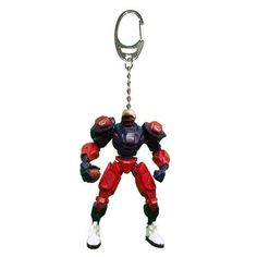 New England Patriots Keychain Fox Robot 3 Inch Mini Cleatus