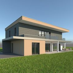 High detailed model of a realistic modern single family home. Suitable for visualizations, advertising renders and other purposes. Single Family, Home And Family, Architecture, Outdoor Decor, Modern, Advertising, House, 3d, Home Decor