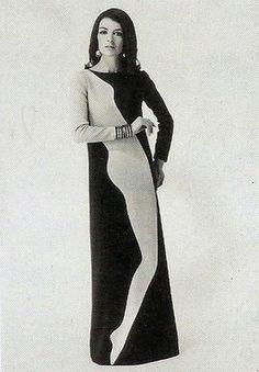 OPT ART DRESS, 1960s