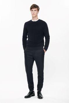 Wool rib-effect jumper