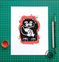 #maneki #neko #lucky #cat #illustration #art
