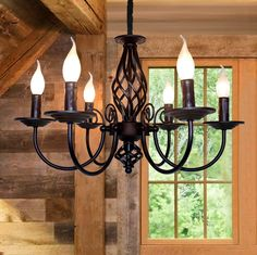 Jaycomey French Country Chandelier,Vintage Candle Chandelier,6 Lights Farmhouse Pendant Light Fixture for Kitchen Island,Dining Room,Living Room