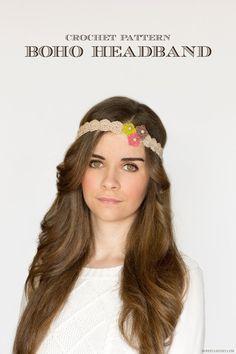 Bloomswirl Crochet Headband - This dainty crochet headband pattern features little crochet flowers that give it a pretty, feminine look.