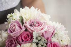 Bridal bouquet in pinks and mauves #furstflorist #furstevents #datytonweddings #childersphotography