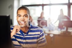 Student in classroom at the computer royalty-free stock photo