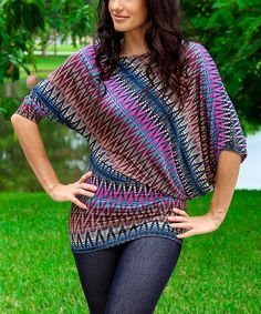 Adorable Chevron Dolman Top | zulily