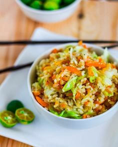Skinny Garlic Fried Rice - Vegan • Gluten free • Serves 4-6