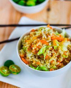 Skinny Garlic Fried Rice - Vegan • Gluten free • Serves 4-6
