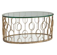 Gold metal coffee table for living room or others