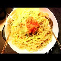 ちょっと濃厚過ぎた(* >ω<) でも美味しかったょ♡ - 5件のもぐもぐ - めんたいクリームパスタ by NaruUMI