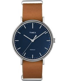 The minimalist dial design and clean lines pair perfectly with our signature interchangeable straps to complement everything in your closet. You just found the only watch you'll ever need. Timex