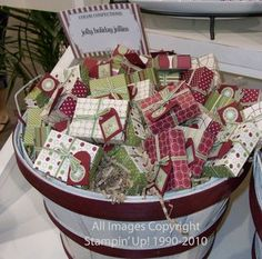 Pre-wrapped holiday gifts are big sellers!  These are made from the matchbox…