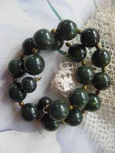Green Marbled Bakelite Bead Bracelet