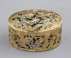 Snuff box. Maker: Jean-François Garand (master 1748, died 1778). Date: 1751–52. Culture: French, Paris. Medium: Gold, enamel.