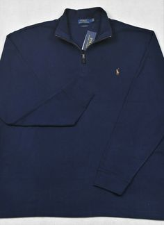Best polo sweater, New Polo Ralph Lauren Half-Zip Sweater Estate Rib French Navy 3XLT 3X Tall NWT Polo Sweater, Half Zip Sweaters, Big & Tall, Polo Ralph Lauren, French, Navy, Long Sleeve, Mens Tops, Style