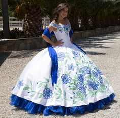 Find More Quinceanera Dresses Information about Hot Sale Bue And White Puffy…