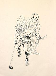 Bachittar Singh's Hotline Miami Illustration