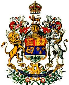 The Royal Arms were adopted by proclamation of King George V on November 21, 1921. Description from guity-novin.blogspot.ca. I…
