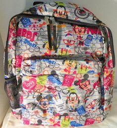 Disney Parks Mickey Minnie Goofy Donald Pluto Nerds Backpack ~ Disney Nerds  NWT