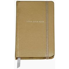 Kate Spade Take Note Little Gold Book Medium Notebook ($16) ❤ liked on Polyvore featuring home, home decor, stationery, fillers, notebooks, books, backgrounds and extras