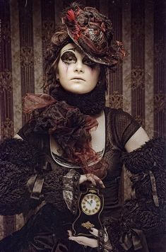 #True Steampunk neo Victorian #Goth girl