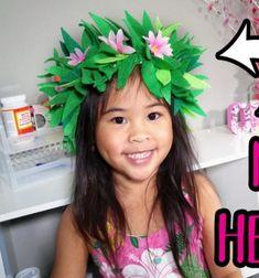 DIY Moana's flower headband - costume for kids // Vaiana (Moana) virág fejdísz filcből egyszerűen - jelmez gyerekeknek // Mindy - craft tutorial collection // #crafts #DIY #craftTutorial #tutorial