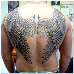 Angel Wing Tattoos For Men on Back