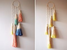 how to make a spiral macrame wall hanging by apairandaspare, via Flickr