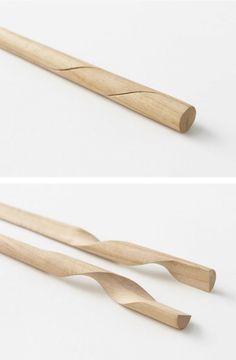 Nendo redesigned chopsticks, one of the oldest Japanese utensils , beautiful design ++