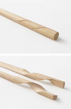 Nendo redesigned chopsticks, one of the oldest Japanese utensils , beautiful design ++
