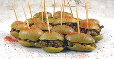 Olives vertes farcies   Une cuisine pour Voozenoo Caramel Apples, Cake, Desserts, Stuffed Olives, Caramel Apple, Pepper, Sunday, Pretty, Beauty