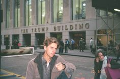 "Here's a little backstory: We stopped by Wall Street to make our best ""Making America Great Again"" pose. Here is Cole's. Neither of us advocate for Trump. FEEL THE BERN!"