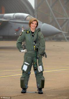 Flt. Lt. Juliette Fleming, RAF Fast Jet pilot. In front of her Tornado GR.4.