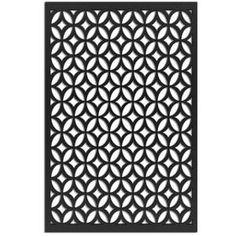 Modinex 6 ft. x 3 ft. Charcoal Gray Decorative Composite Fence Panel Featured in Panama Design-USAMOD5C - The Home Depot Home Depot, Decorative Fence Panels, Vinyl Lattice Panels, Privacy Shades, Shade Screen, Vinyl Decor, Black Tree, Aesthetic Beauty, Farmhouse Style Decorating