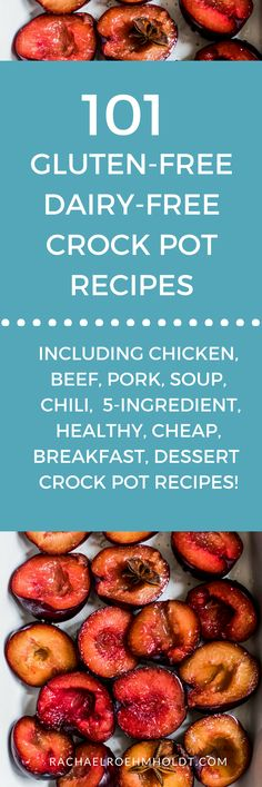 Included in this gluten-free dairy-free recipe roundup are: healthy chicken beef pork soup chili breakfast or less cheap and dessert recipes. Click through to check out all the awesome r Crock Pot Recipes, Recetas Crock Pot, Slow Cooker Recipes, Crock Pots, Paleo Crock Pot, Eggs Crockpot, Crockpot Meat, Healthy Crockpot Recipes, Diet Recipes