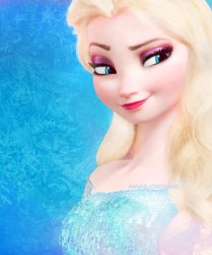 Frozen~Elsa with her hair out! i did this with my sister's Elsa doll and she looked EVEN better then she originally did! Elsa Frozen, Frozen Heart, Disney Frozen, Walt Disney, Disney Love, Disney Magic, Disney And Dreamworks, Disney Pixar, Disney Characters
