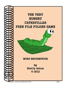 In appreciation for all you do for students, I am offering a free reading file folder game.  It goes along with the book, The Very Hungry Caterpill...