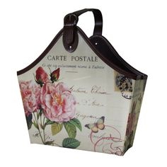 Giz Home  Gazetelik Tek Saplı Carte Postale pembe çiçekli büyük : 39,90 TL | evmanya.com