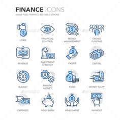 Blue Line Finance Icons. Download here: http://graphicriver.net/item/blue-line-finance-icons/16010889?ref=ksioks